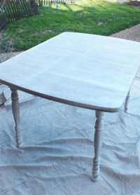 How to Paint a Laminate Kitchen Table | Confessions of a ...