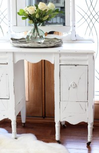 Antique Dressing Table Makeover   Confessions of a Serial ...