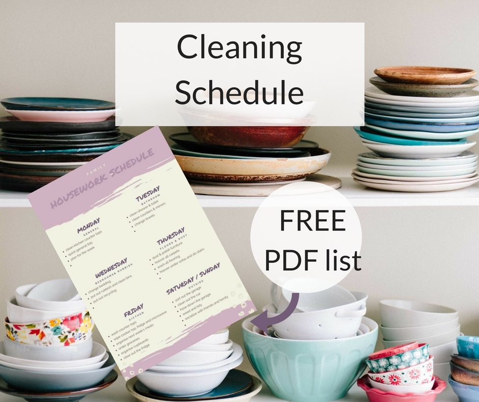 Housework and Cleaning ScheduleConfessions of a Single Mum - housework schedule