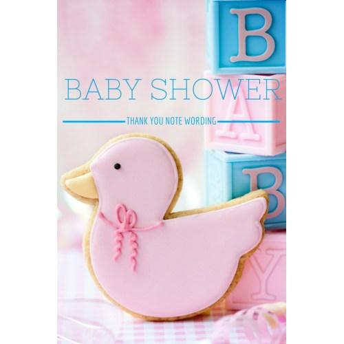 Medium Crop Of Baby Shower Thank You Wording