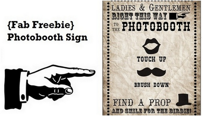 Free Photobooth Sign Printable {Vintage Carnival Style} - free carnival sign template