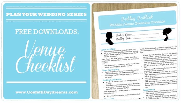 Wedding Venue Checklist { 100 Question Printable}