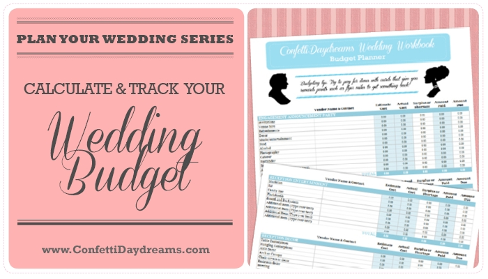 Wedding Budget Workbook FREEBIE {Wedding Planning Series} - wedding plan