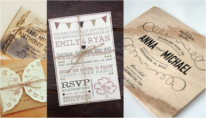 18 Gorgeous Rustic Wedding Invitations - rustic wedding invitation
