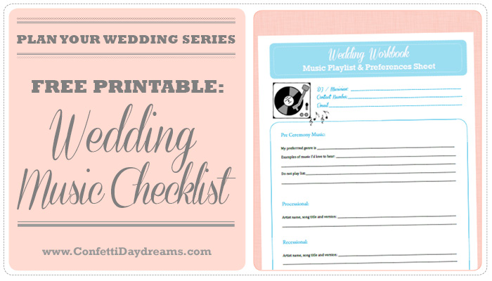 Wedding Music Checklist {Wedding Planning Series} - wedding music for reception
