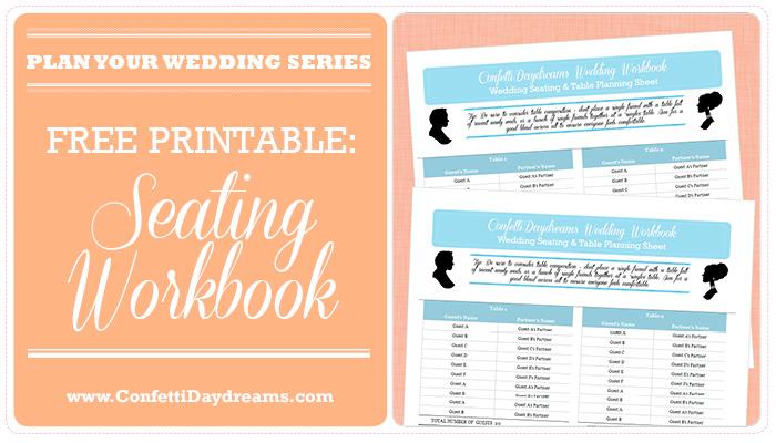 Wedding Table Planner  Seating Chart Workbook {Wedding Planning Series} - printable seating charts