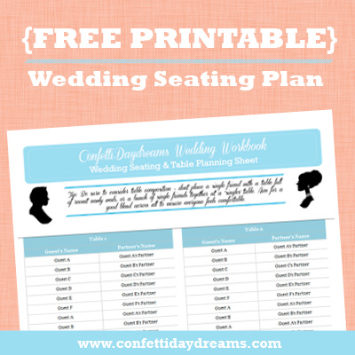 Wedding Table Planner  Seating Chart Workbook {Wedding Planning Series}