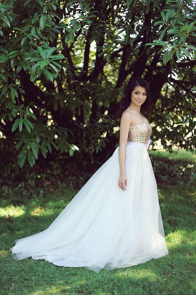 10 Gorgeous, Glittery Sequin Wedding Dresses