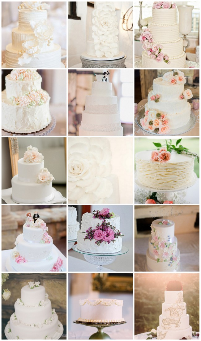 Absolutely Amazing All White Wedding Cakes