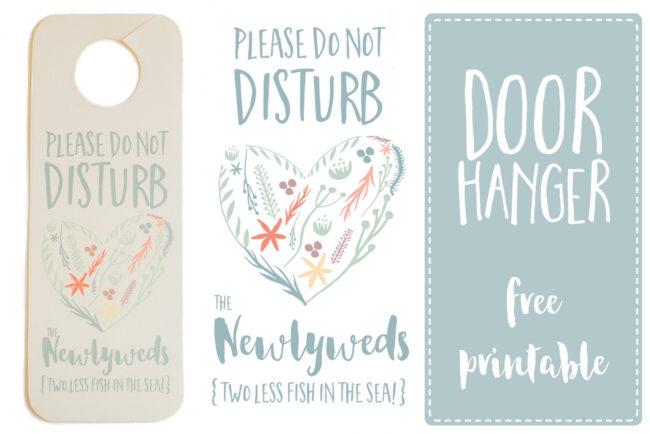 Do Not Disturb The Newlyweds\u0027 Door Hanger Printable {FREE}