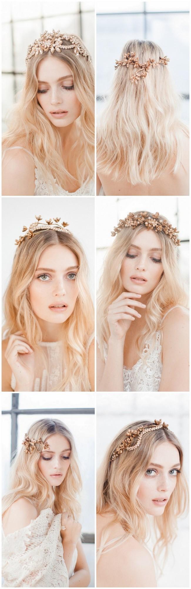 Jannie baltzer wild nature bridal headpiece collection 2016 sandra aberg photography