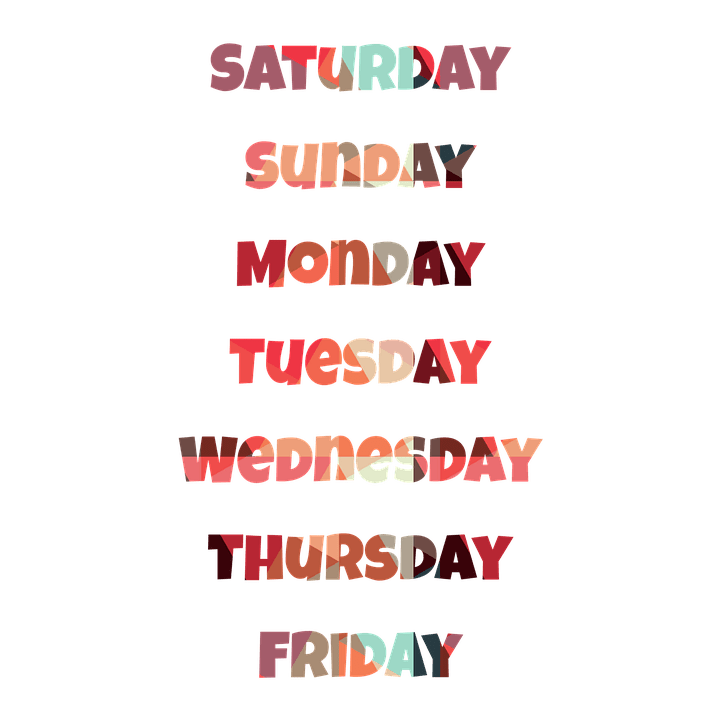 how to pronounce the days of the week american english