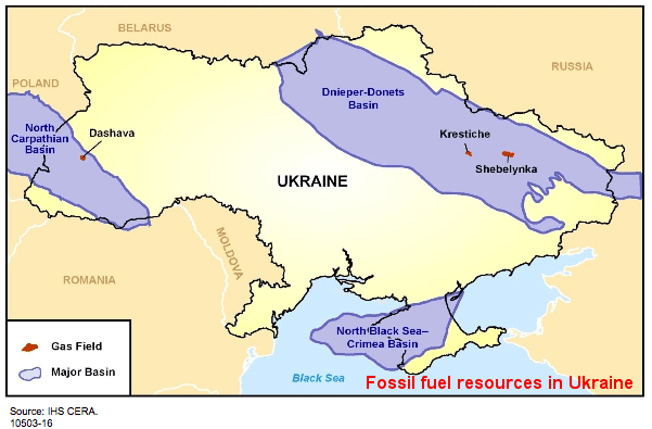 Ukraine shale formations