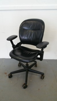 Leather Steelcase Leap Chairs | C61241C - Conklin Office ...