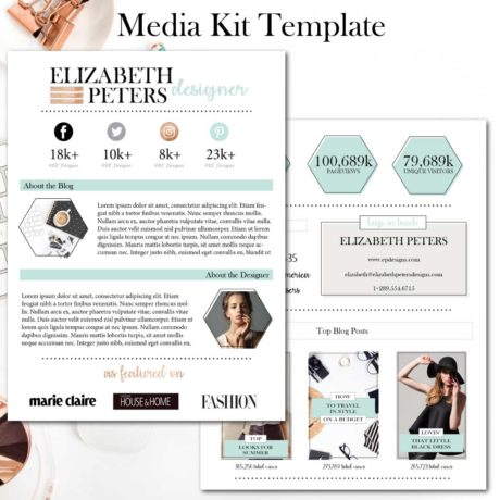 Media Kit Template - Black, White and Copper Connected Colleague