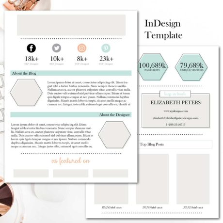 Media Kit Template - Black, White and Copper Connected Colleague - media kit template