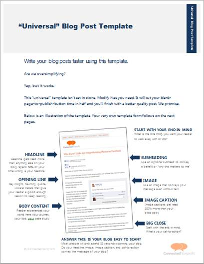 Blog Post Template Content Marketing Pinterest - sending resume by email sample