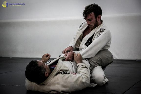 Torryn on the mats at the Gordo BJJ academy