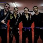 Some of the Connection Rio group that visited FightZone academy in Copacabana