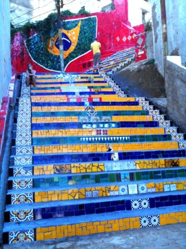Thanks to Snoop and Pharrell the Escadaria Selarón have gained a lot in popularity, but in itself it's hardly a place to spend more than an hour. Weekends can be really busy with tourists as it's a very popular place to get photographs.