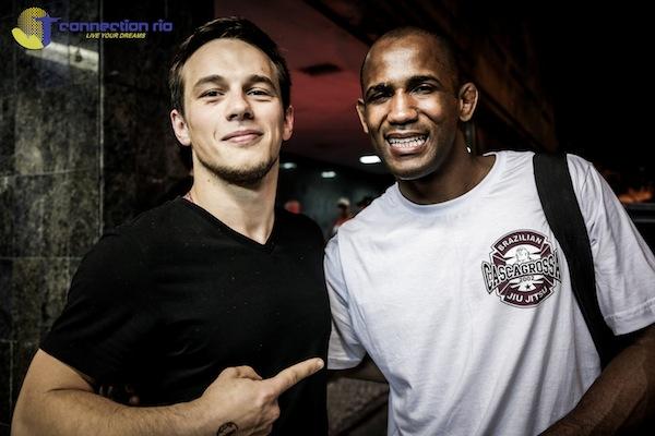 Michael with jiu-jitsu legend Terere