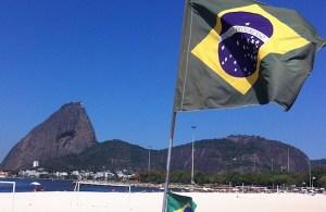 Brazil-flag-beach