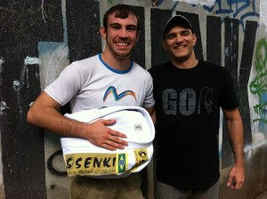Torryn with his new gi sponsor Senki Kimonos