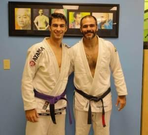 Patrick with Professor Jeremy Arel