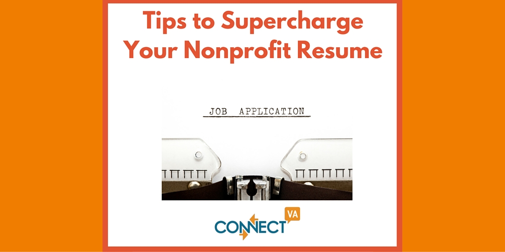 Tips to Supercharge Your Nonprofit Resume ConnectVA