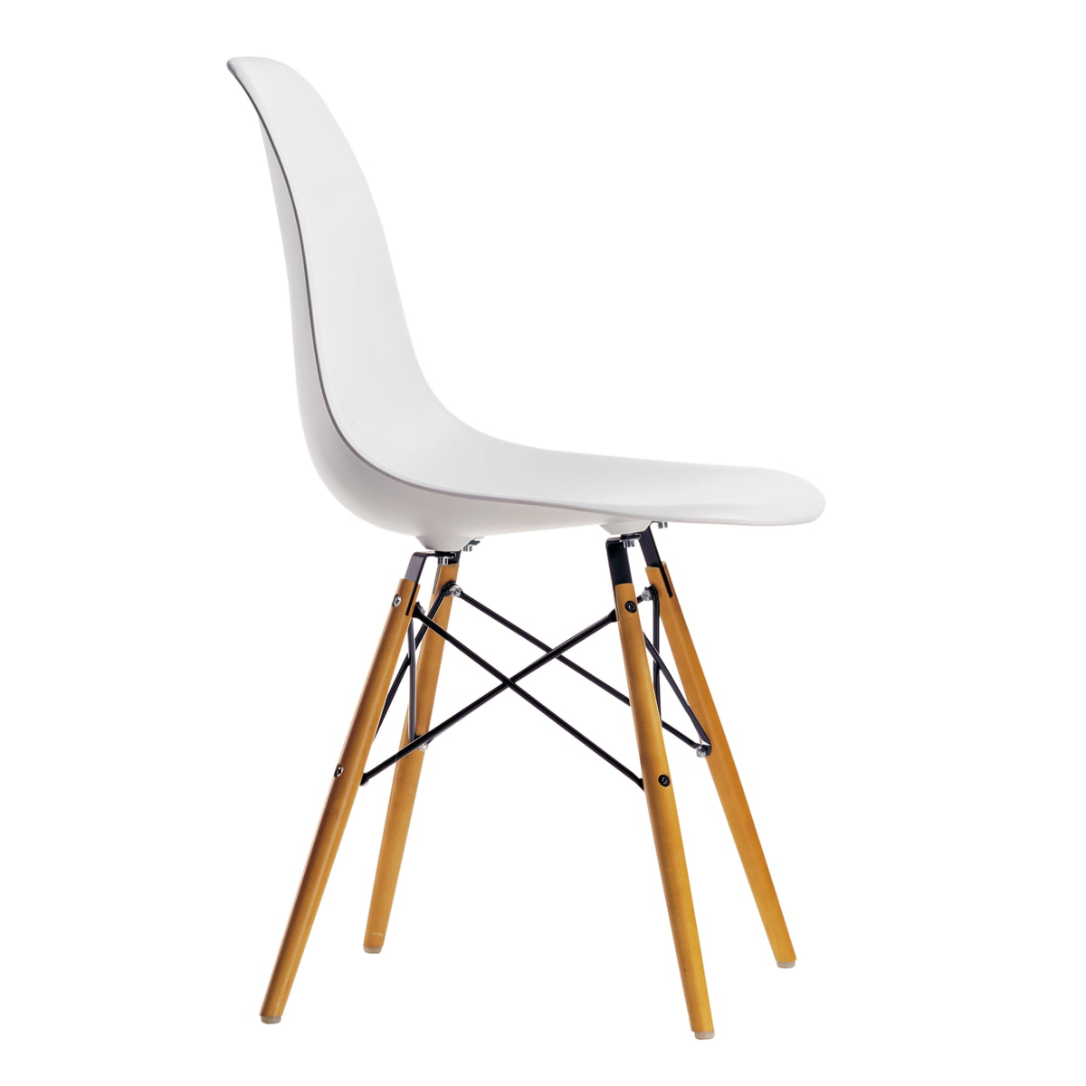 Vitra eames plastic side chair dsw yellowish maple white