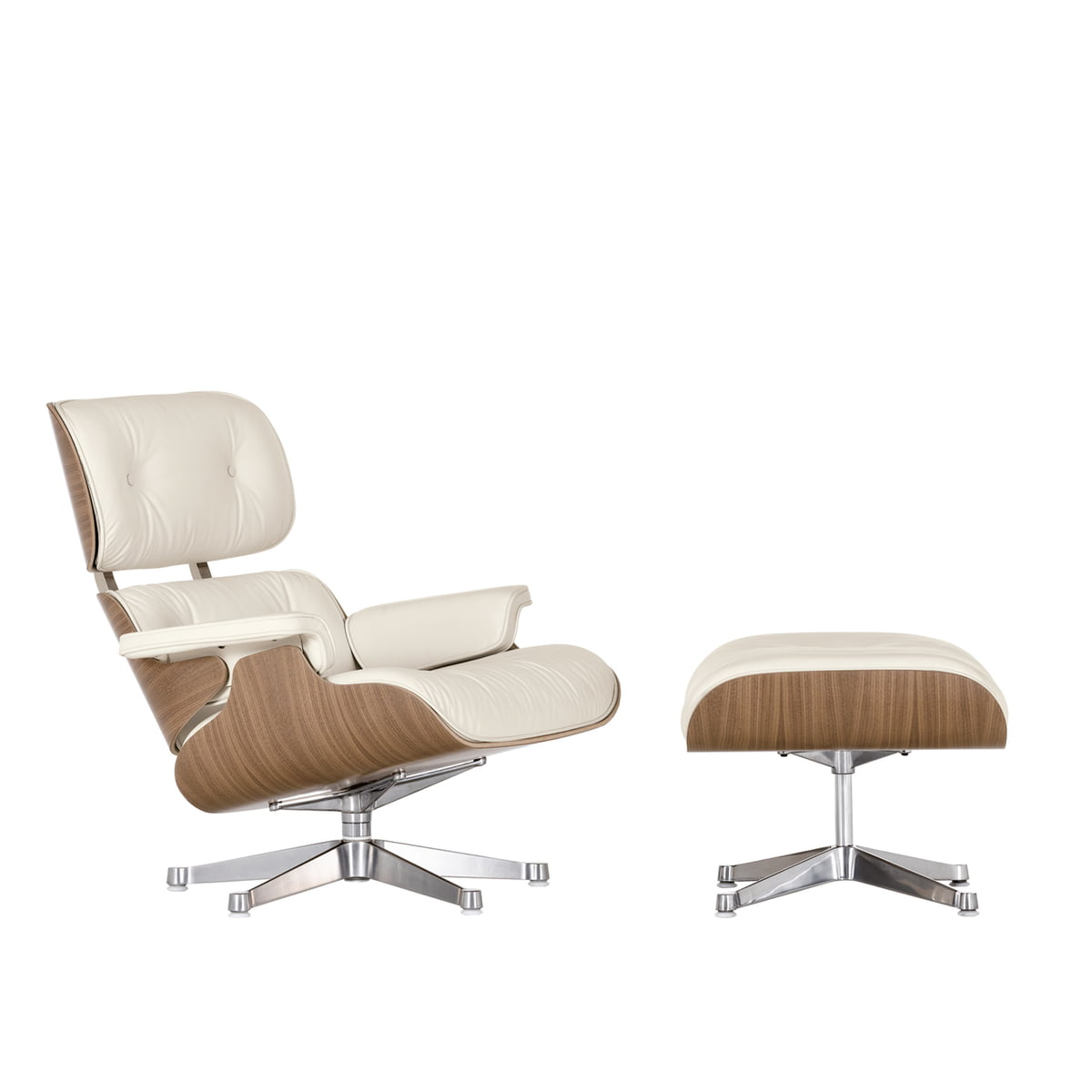 Vitra lounge chair amp ottoman white version von charles amp ray eames vitra eames lounge download