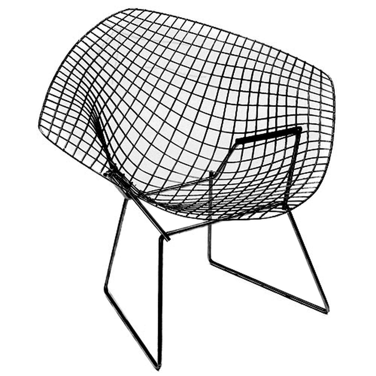 Knoll diamond outdoor chair black