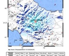 Epicentro sisma molise 16 gennaio