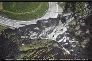 Figura 3: Movimenti franosi provocati dalla sequenza sismica in Giappone ( Foto Gallery RAINEWS http://www.rainews.it)