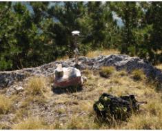 Una stazione GPS installata vicino Norcia per studiare il terremoto