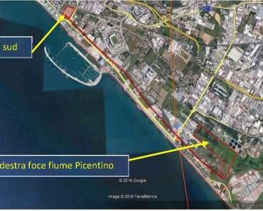 2-area-ex-marzotto-e-foce fiume Picentino Foto da Google Earth n. 2 – prospetto generale