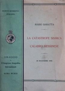 """Frontespizio del primo volume de """"La catastrofe sismica calabro-messinese"""" (collezione privata)"""
