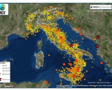 Mappa terremoti 2018, da INGV