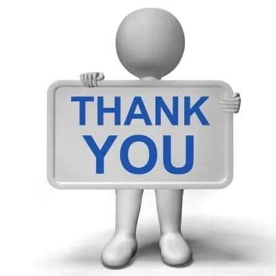 Carta para agradecer por una orden de compra del cliente