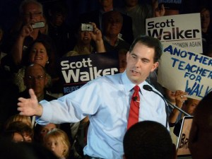 Scott Walker campaigning for Governor in 2010