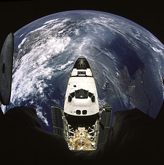 Shuttle Atlantis during a more glorious time in the US space program