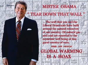 How Ronald Reagan would address the global warming hoax, if he were alive. Photo: Gene Tew, CC BY 2.0