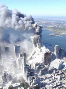 The North Tower collapses, September 11, 2001