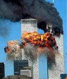 The second plane hits the South Tower. Some 9/11 conspiracy theories said that this plane was a tanker, not an airliner.