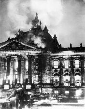 The Reichstag Fire, a key event in the rise of the Nazi Party
