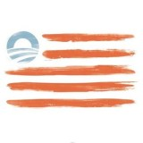 The Obama rainbow flag. Democrats now run from this flag and the man.