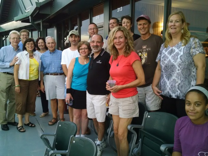 CWF supporters enjoy box seats provided by the Somerset Patriots.