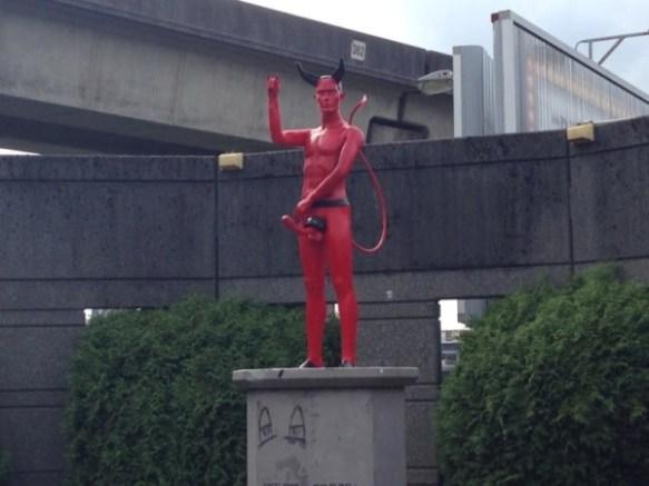 Devil Penis Statue