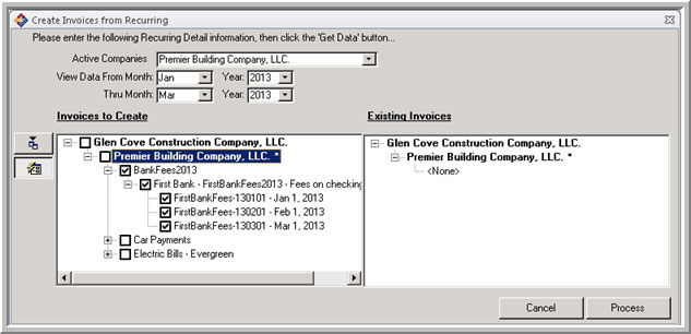 Recurring Invoice Creation