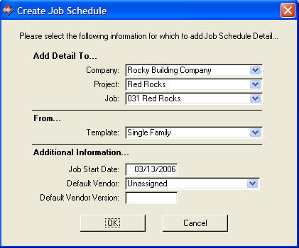 Job Schedule Creation from Template